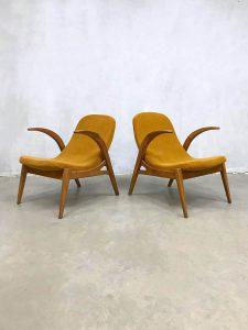Vintage Czech design kids armchairs lounge fauteuils ULUV Prague