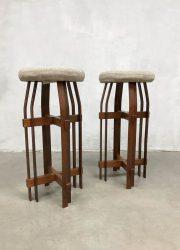 Vintage design barstools barkrukken Cubism Art deco style
