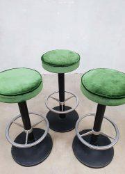 vintage design barkrukken barstools industrial velvet fabric