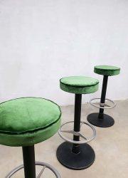 vintage barkrukken velvet green luxury large quantity barstools vintage design