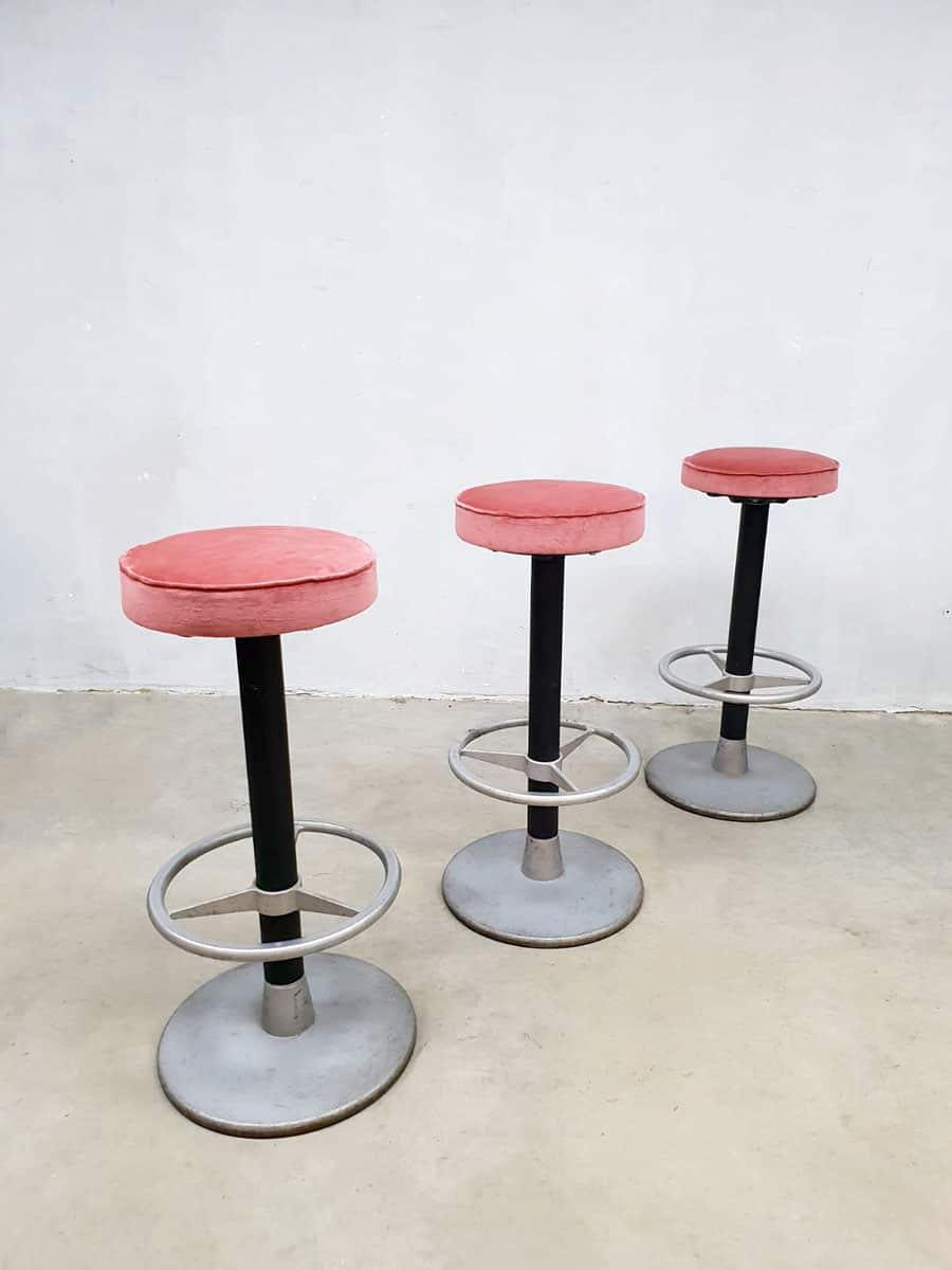 Outstanding Vintage Industrial Barstools Partij Barkrukken Luxury Pink Creativecarmelina Interior Chair Design Creativecarmelinacom