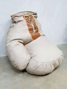 vintage leren zitzak bokshandschoen boxing gloves de Sede Switserland design