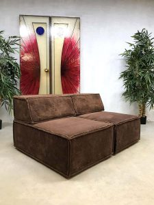 Vintage design modular chocolate brown sofa elementen bank Cor Team Form AG