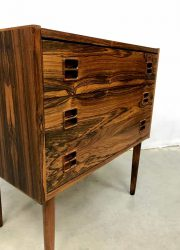 Design Deens vintage ladekast kast vintage Rosewood Danish cabinet