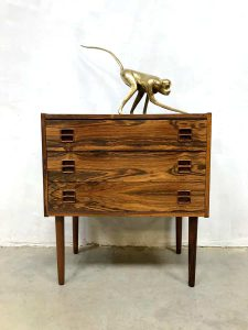 Vintage Danish design rosewood cabinet chest with drawers ladekast
