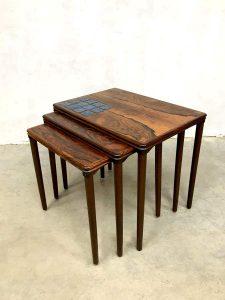 Vintage Danish design Rosewood nesting tables mimiset Heltborg Mobler
