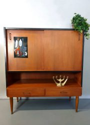 Vintage Danish design highboard wandkast dranken cabinet