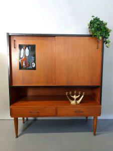 Vintage Danish design highboard wandkast dranken cabinet