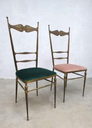 Vintage Italian design dining chairs antique eetkamerstoelen hollywood regency