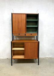 Swedish midcentury vintage design cabinet wallunit kast Bodafors Bertil Fridhagen teak