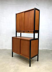 Bodafors Swedish cabinet wallunit vintage kast design Midcentury teak hout wood fifties jaren 50