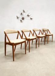 Vintage Model 31 Teak Dining Chairs by Kai Kristiansen for Schou Andersen eetkamerstoelen