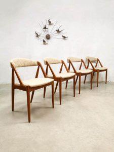 Vintage Model 31 Teak Dining Chairs by Kai Kristiansen for Schou Andersen eetkamerstoelen