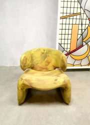 lounge chair Olivier Morgue French design chair ottoman yellow