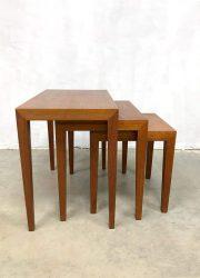 Midcentury Danish design mimiset nesting tables teak
