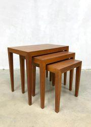 Bijzettafel teak vintage nesting table Danish vintage mimiset midcentury fifties
