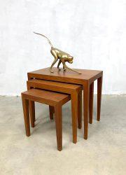 Vintage Danish design mimiset nesting tables Severin Hansen Bovenkamp
