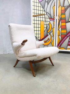 Midcentury Danish design papa bear armchair Deense lounge fauteuil Teddy