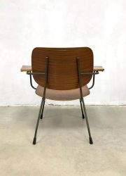 vintage 8000 Teak Plywood Armchair by Tjerk Reijenga for Pilastro, 1950s