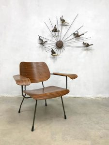Vintage plywood armchair lounge fauteuil Tjerk Reijenga Pilastro