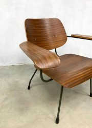 midcentury design plywood arm chair Pilastro 1950 8000