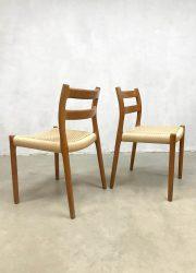vintage Danish design Niels O Moller dining chairs model 84 eetkamerstoelen