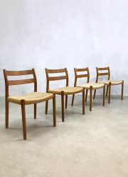Vintage Danish dining chairs Niels O. Møller eetkamerstoelen No. 84