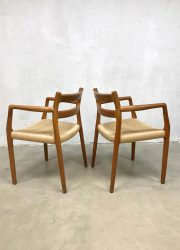 vintage Danish design dining chairs Niels O Moller model 67 eetkamerstoelen