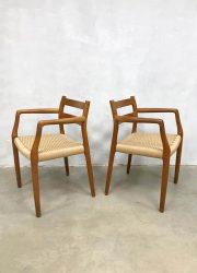 midcentury dining armchairs eetkamerstoelen teak Niels O Moller