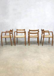 vintage Deens design eetkamerstoelen Niels O Moller dining chairs