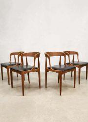 vintage Danish design dining chairs midcentury eetkamerstoelen