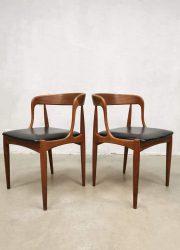 vintage danish design chairs Uldum Johannes Andersen midcentury