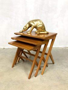 Vintage Danish design mimiset nesting tables Bengt Ruda