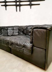 midcentury design modular sofa bank leather ds 11