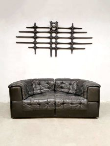 Vintage De Sede sofa DS 11 bank patchwork leather