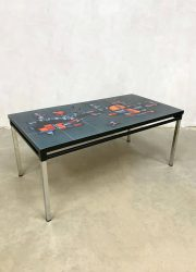 Vintage design tile table coffee table tegel tafel salontafel Adri