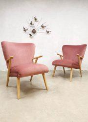 midcentury design chairs wingback danish vintage fauteuils