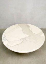 vintage Italian design marble coffee table Angelo Mangiarotti Skipper salontafel