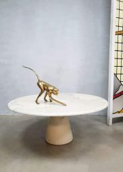 Midcentury Italian design marble coffee table salontafel Angelo Mangiarotti