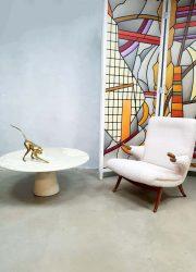 midcentury modern coffee table minimalism Angelo Mangiarotti marble table