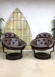 sixties seventies vintage design chairs leather madmen style