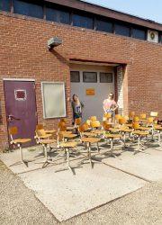 vintage Ahrend de Cirkel stools Dutch design Friso Kramer