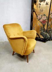 vintage jaren 50 60 armchair fifties sixites design cocktail chair