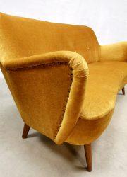 vintage design cocktail bank velvet retro sofa Italian