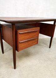 midcentury modern desk Tibergaard Denmark bureau teak buro