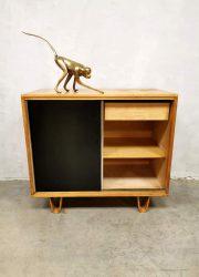 midcentury dutch design cabinet Pastoe Cees Braakman lussenpoten berken serie birch serie