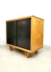 vintage plywood cabinet Dutch design Pastoe Cees Braakman berkenserie lussenpoten