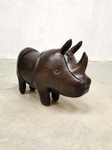 Dimitri Omersa laether leer Rhino neushoorn vintage