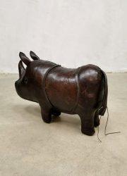 Leather rhino leren neushoorn vintage Omersa Dimitri