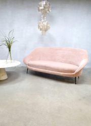 midcentury Italian design sofa bank velvet